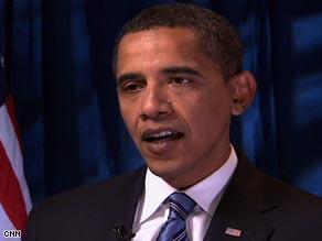 Sen. Barack Obama in an interview Friday with CNN's Wolf Blitzer.