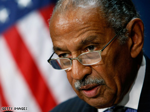 Conyers called for an investigation into the leak over Obama's aunt.