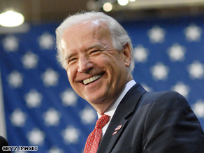 Sen. Biden admitted he is superstitious and denied any gaffes Monday.