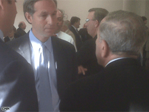 CNN's Gary Tuchman tried to catch up with Sen. Ted Stevens Sunday.