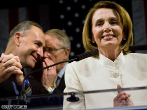 House Speaker Nancy Pelosi said Obama's election is a clear message Americans are ready for change.