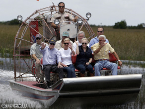 Crist and McCain appeared in the Everglades the campaign this summer.