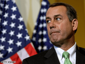 No more auto bailout money without a long-term industry plan, Boehner said Sunday.