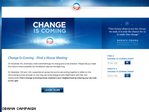 Obama supporters are urged to gather next weekend.