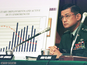 Shinseki is a former Army chief of staff.