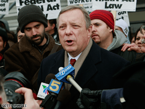 Durbin is calling for a new election to replace Obama.