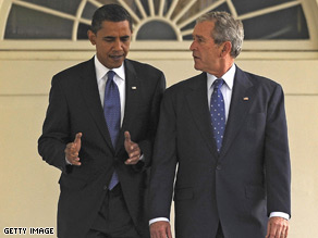 President Bush and President-elect Obama will meet with three former presidents in January.