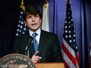 Illinois Gov. Rod Blagojevich held a press conference Friday afternoon.