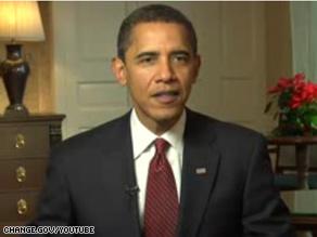 Obama's holiday radio address was released Wednesday.