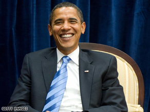 Obama's poll numbers have given him something to smile about lately.