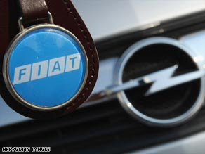 Italian carmaker Fiat is one of two parties in talks with the German government to purchase Opel.