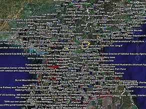 Amateur sleuths of 'North Korean Economy Watch' document landmarks via Google Earth.