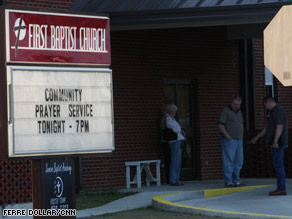 First Baptist Church in Samson, Alabama, held a Wednesday night prayer service.