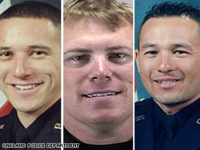 Sgt. Daniel Sakai, from left, Sgt. Mark Dunakin and Sgt. Ervin Romans were killed in the shootings.