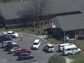 The shooting happened at about 10 a.m. Sunday in Carthage, North Carolina, authorities said.