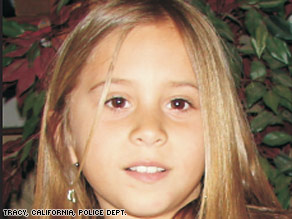Sandra Cantu, 8, disappeared on Friday, according to police in Tracy, California.