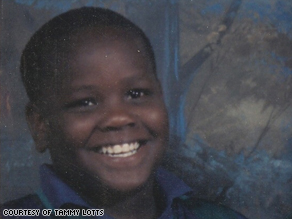 Quantel Lotts is shown at age 12, two years before he committed the crime that sent him to prison for life.
