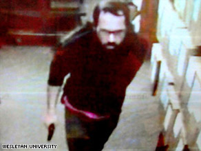 Police say the gunman captured on bookstore surveillance video is Stephen Morgan, 29.