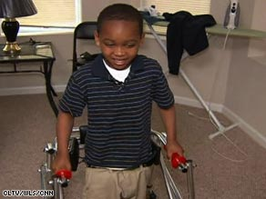 Martrell Stevens survived being hit by a stray bullet as he slept in a car in Chicago, but he was partially paralyzed.