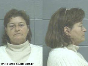 Charlene Schmitz makes $51,000 a year, even though she has been fired and is in prison.