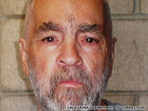 Charles Manson was sentenced to life in prison in 1970.