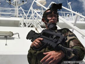 The increase in attacks has forced many countries to patrol pirate hotspots such as the Gulf of Aden.