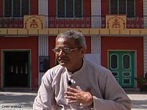 Hindu priest Pandjitee is a carrier of the genetic mutation that causes heart disease in India.