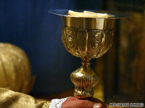 The Church of England's leaders are recommending parishoners don't share the chalice.