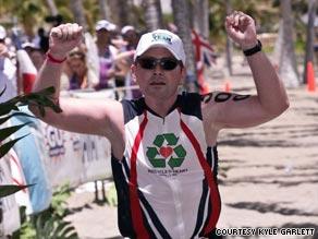 Heart transplant recipient and cancer survivor Kyle Garlett will compete in October's Ironman World Championship.
