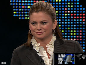 Kathy Ireland says she's more concerned about what weight gain does to her health than her appearance.