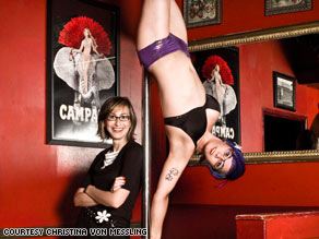 Using an upside-down stripper as a stand-in looks... fun?