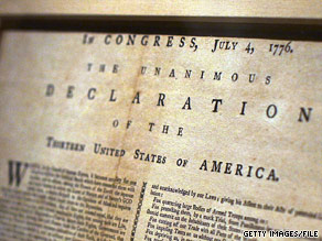 Only 36 of 200 official copies of the Declaration of Independence have been found intact since 1820.