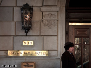 The Obama's are staying at the Hay-Adams hotel for two weeks.