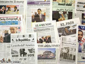 The world's newspapers marked Barack Obama's election win. Now, world governments want him to act.