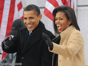President-elect Barack Obama and his wife, Michelle, are expected to attend all 10 official inaugural balls.