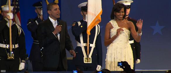Obamas juggle inaugural balls