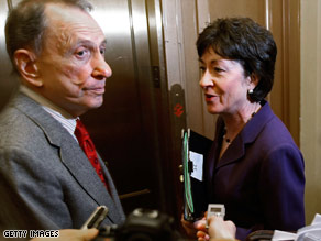 GOP Sens. Arlen Specter and Susan Collins say the final bill won't have their support if it is drastically different.