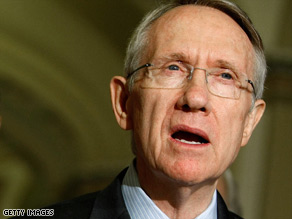 Senate Majority Leader Harry Reid met with House Speaker Nancy Pelosi to iron out a snag in the bill.