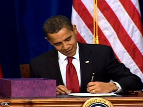 President Obama says the plan puts Americans to work doing the things America needs done.
