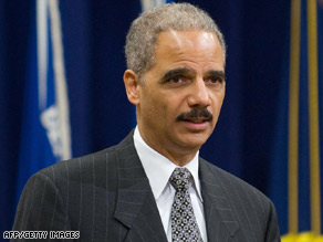 Eric Holder spoke to an overflowing crowd for Black History Month at the Justice Department Wednesday.