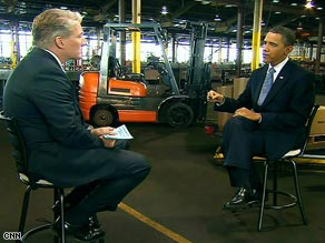 CNN's John King talks with President Obama in Peoria, Illinois.