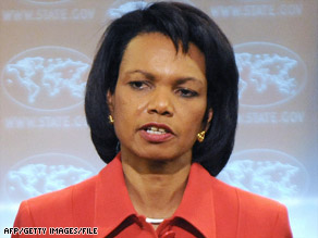 Condoleeza Rice says George W. Bush was clear that interrogations during his presidency should break no law.