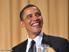 President Obama delivers some one-liners at the White House Correspondents' Association dinner on Saturday.