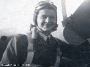 Jane Tedeschi when she was in the Women Airforce Service Pilot program.