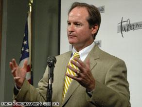Rep. John Sullivan speaks to the Tulsa Press Club in this undated photo.