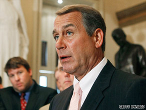House Minority Leader John Boehner thinks a government health care plan will hurt small businesses.