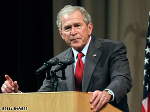 Former President Bush claims his administration's surveillance program helped to ward off terrorist attacks.
