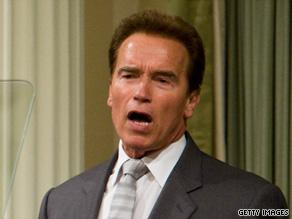 Gov. Arnold Schwarzenegger addresses California lawmakers on June 2.