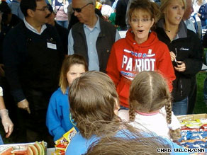 Alaska Gov. Sarah Palin visits hometown of Wasilla two days before stepping down from her post.