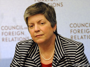 Homeland Security Secretary Janet Napolitano speaks at the Council on Foreign Relations on Wednesday.